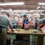 千葉県野田市にあるランドセル製造工場。品質を保つため社内で一貫生産を行っている。