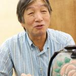 美術家でもある片野一徳社長は、革をキャンバスに見立てたアート作品を個展で発表してきた。