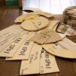 過去に手がけてきた帽子の型が大切に保管されている。