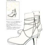 Clear sole boots round lace-up