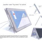 "Leather case ""Fujiyama""for tablet"